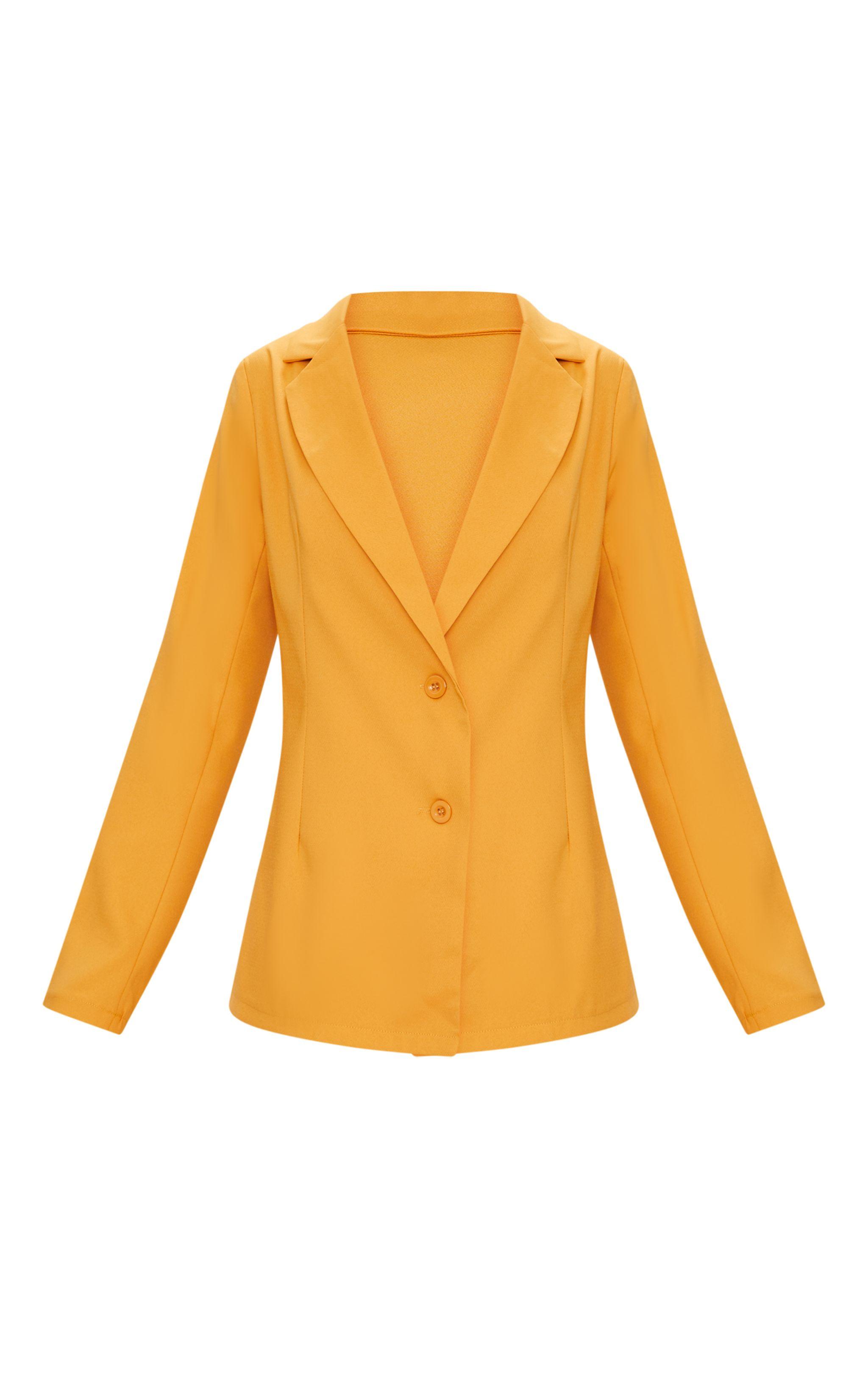 Blazer long oversized moutarde manteaux et vestes - Blazer jaune moutarde ...