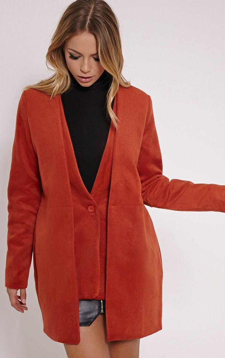 Louella Rust Double Oversized Coat 1