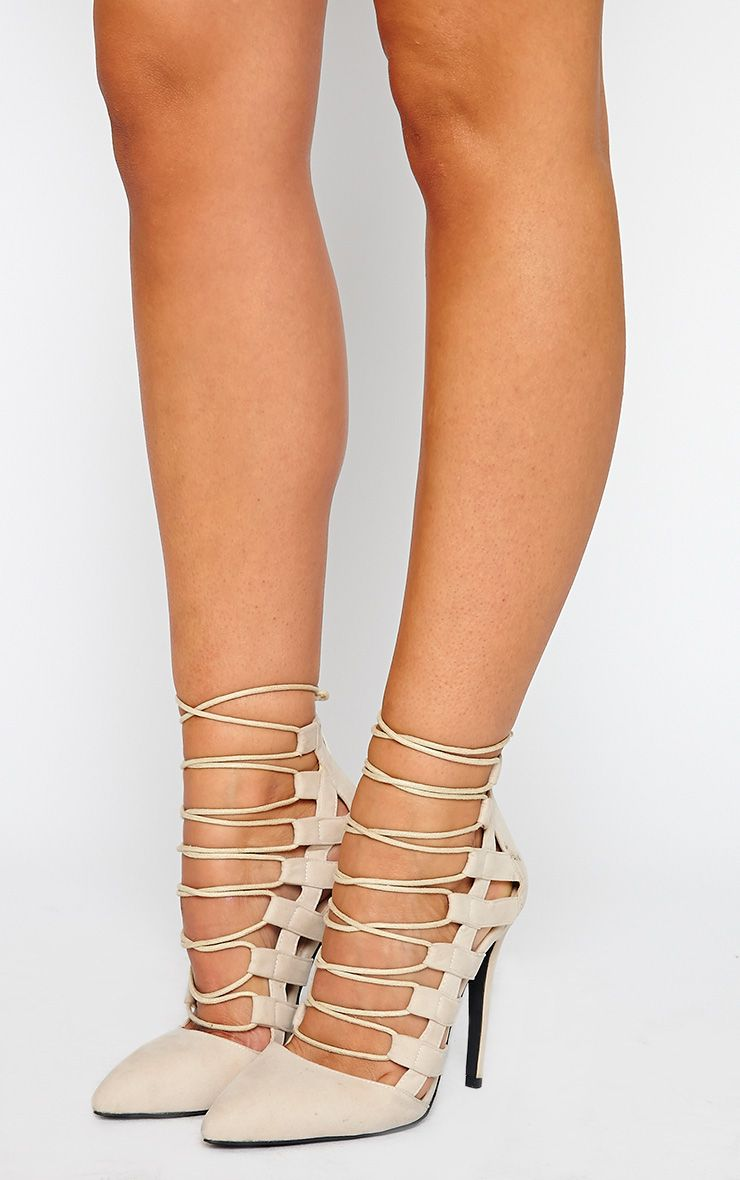 Amaris Nude Pointed Strappy Heels