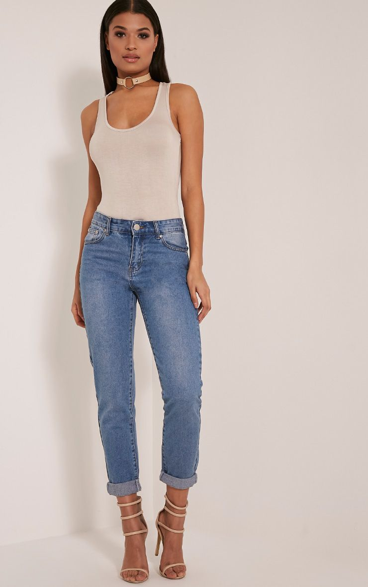 Kourtney Mid Wash Boyfriend Jeans