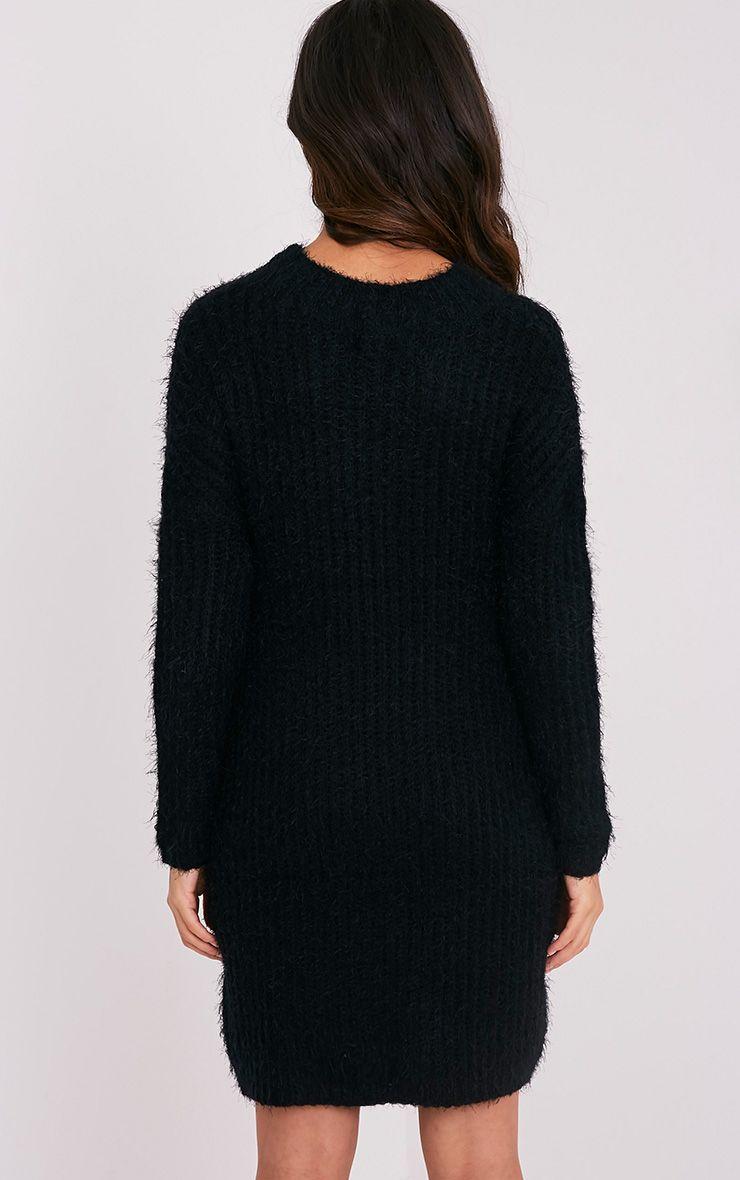 Gordania robe pull surdimensionnée noire en mohair 2