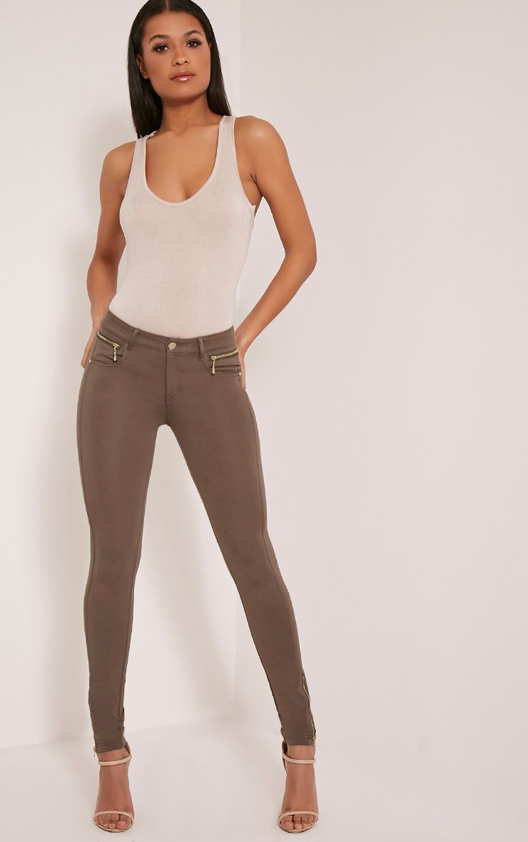 Niah Chocolate Brown Jeggings