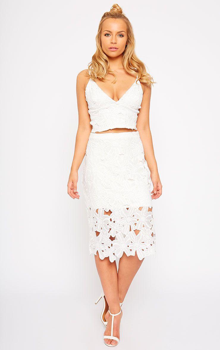 Colleen White Crochet Skirt 1