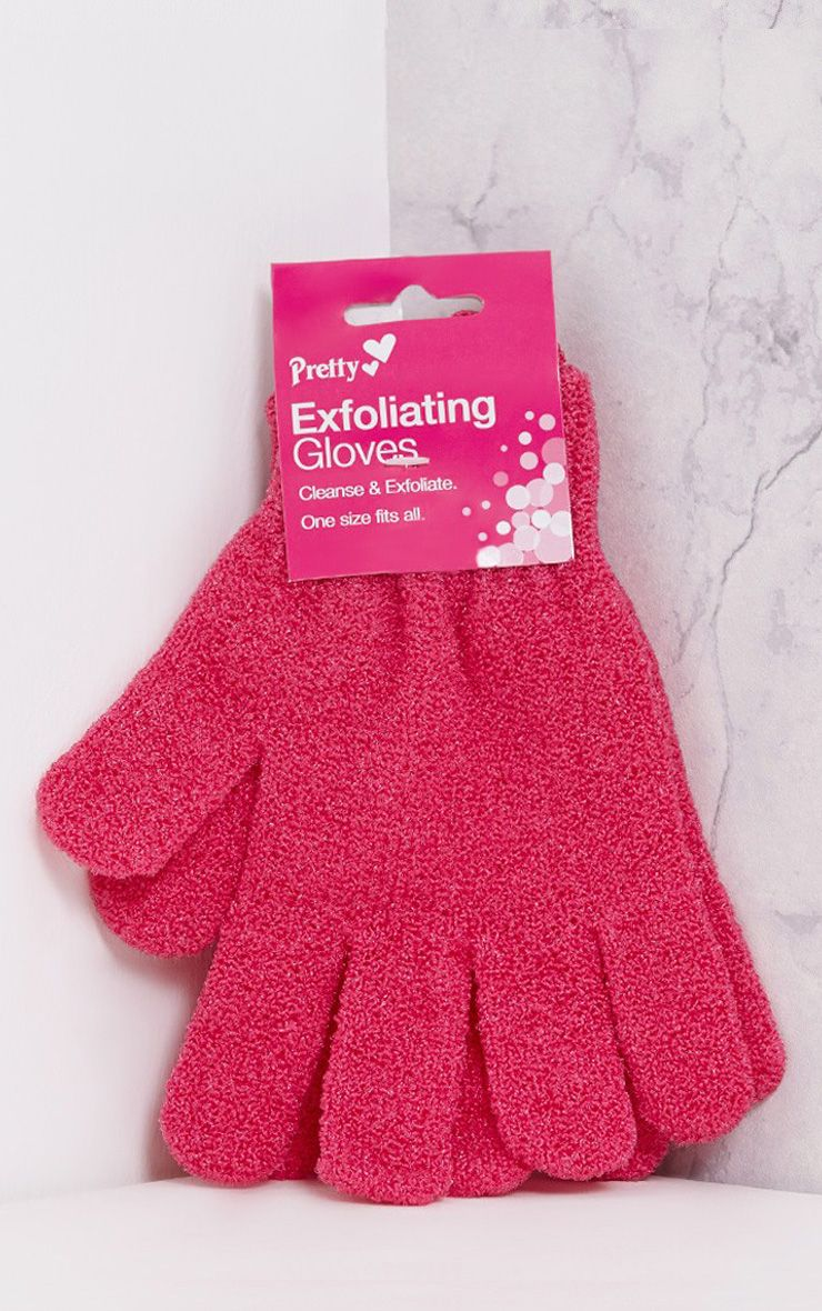 Pretty Pink Exfoliating Gloves