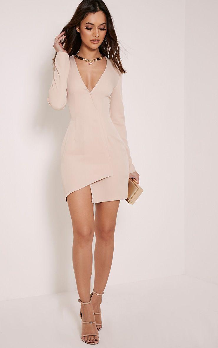 Alyson Nude Blazer Style Dress 1