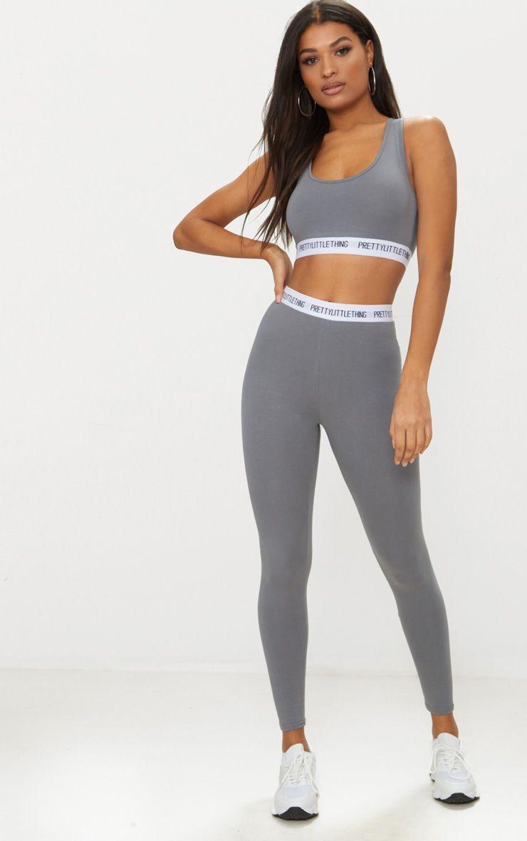 Charcoal Grey PrettyLittleThing Leggings