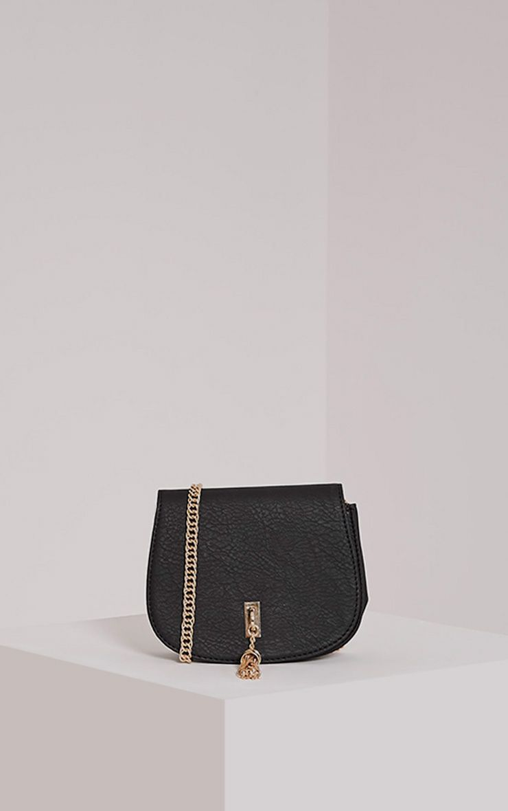Danaria Black Tassel Chain Bag Black