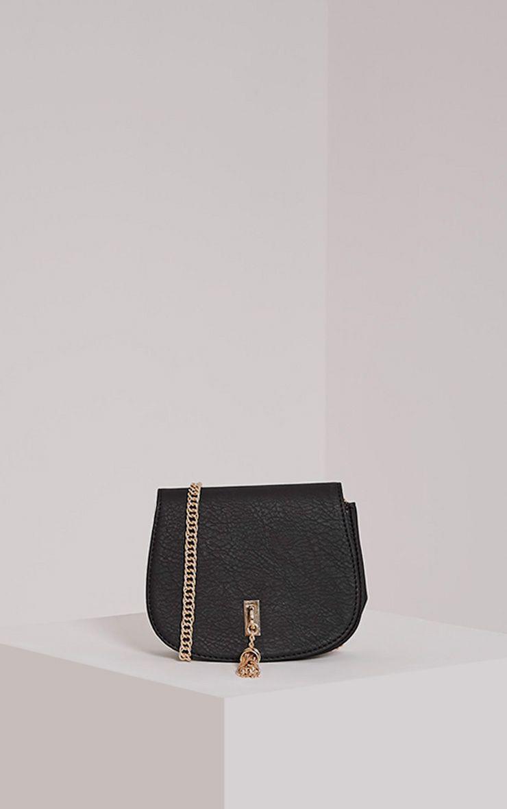 Danaria Black Tassel Chain Bag Black