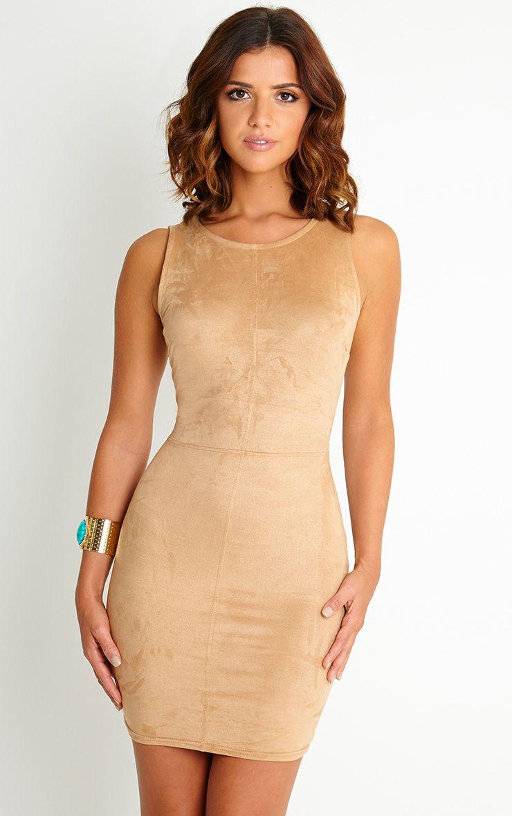 Yasmin Nutmeg Suede Mini Dress 1