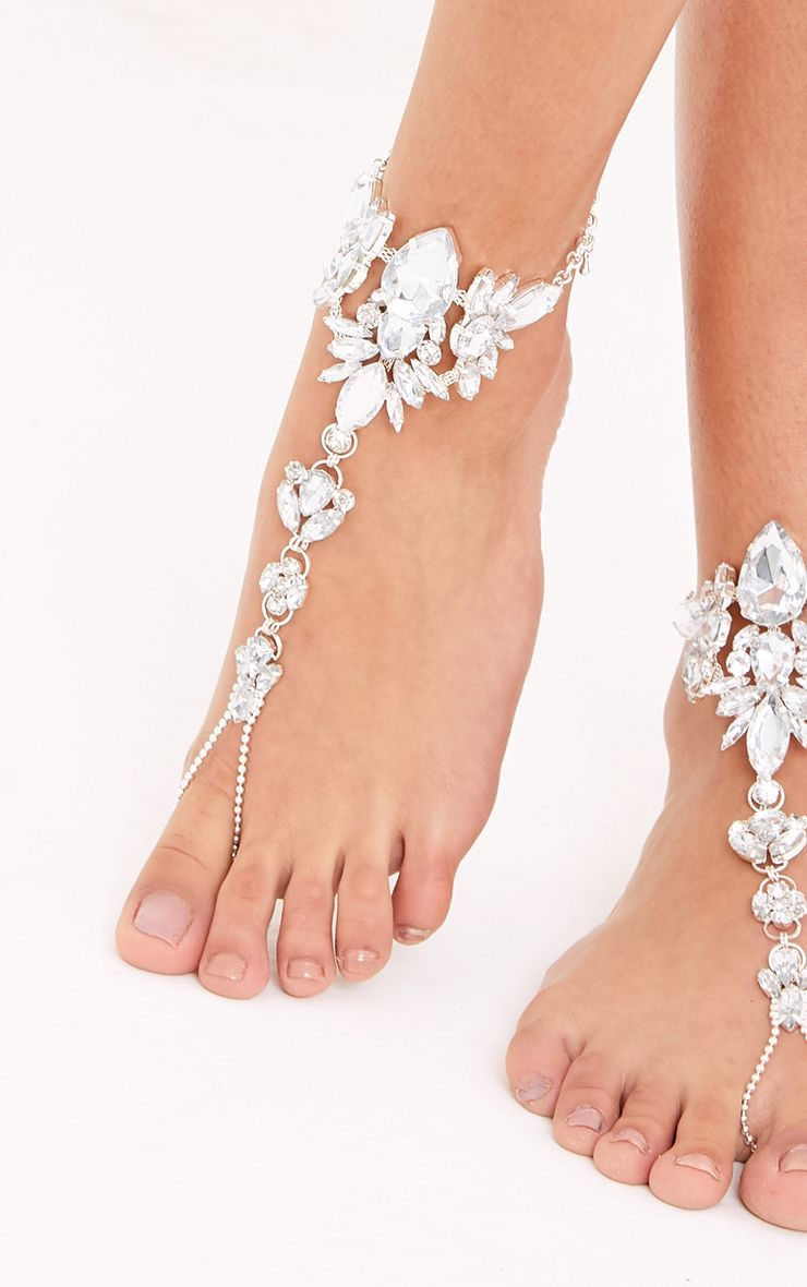 Crista Silver Jewelled Foot Choker