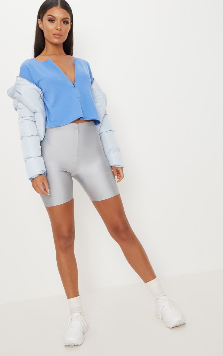 Electric Blue Zip Front Sweater
