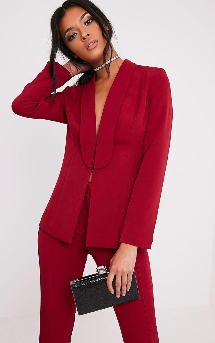 Avani Burgundy Suit Jacket