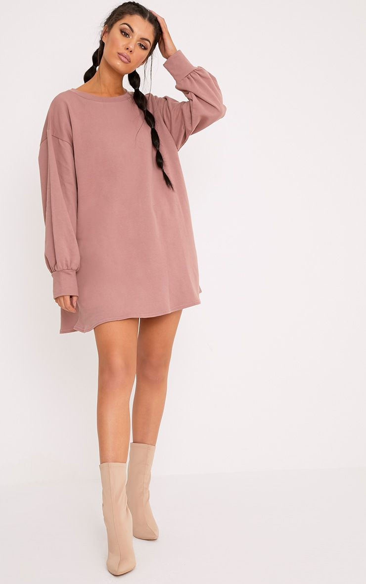 Sianna Dark Mauve Oversized Sweater Dress