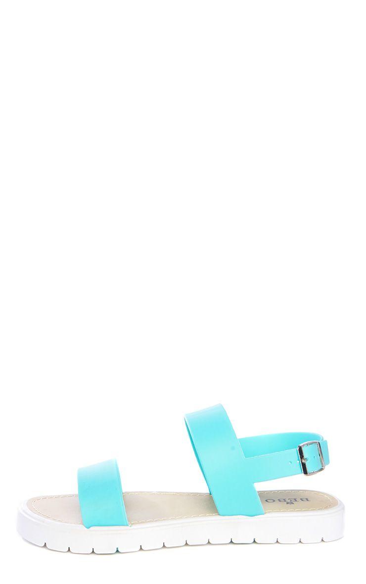 Anneli Mint Rubber Sandals 1