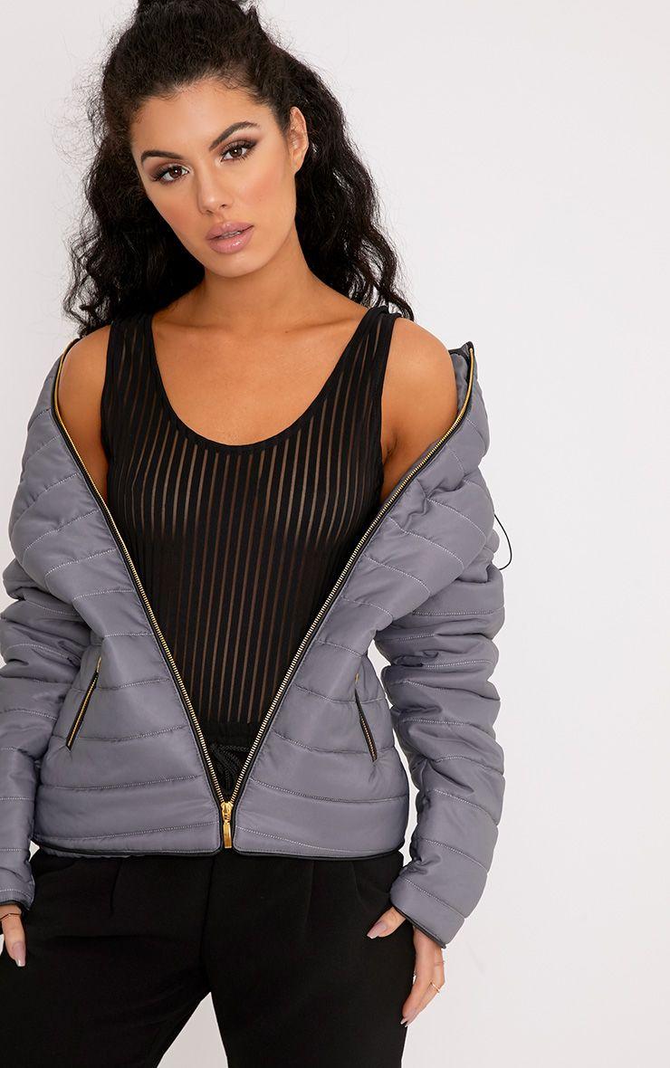 Mara Light Grey Puffer Jacket