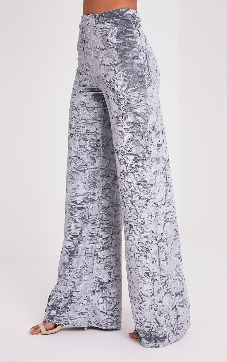 Jill pantalon en velours écrasé gris 4