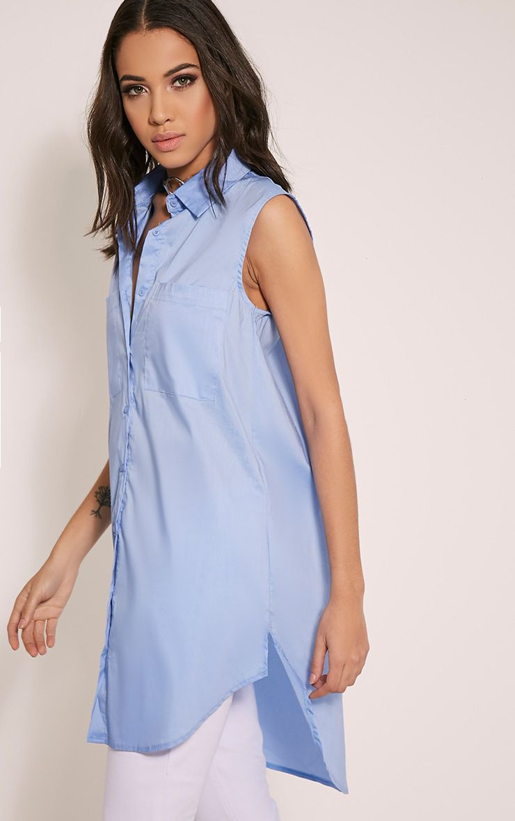 Kaydie Blue Sleeveless Shirt 1