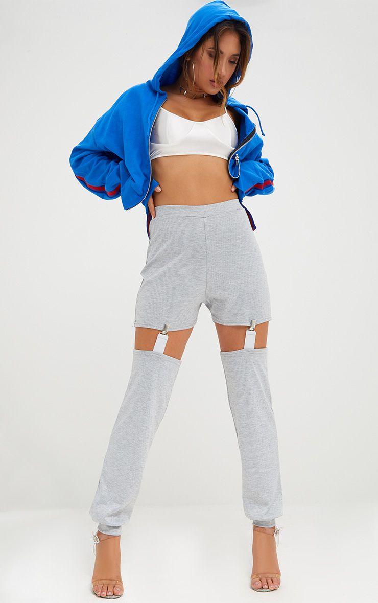 Grey Marl Suspender Joggers