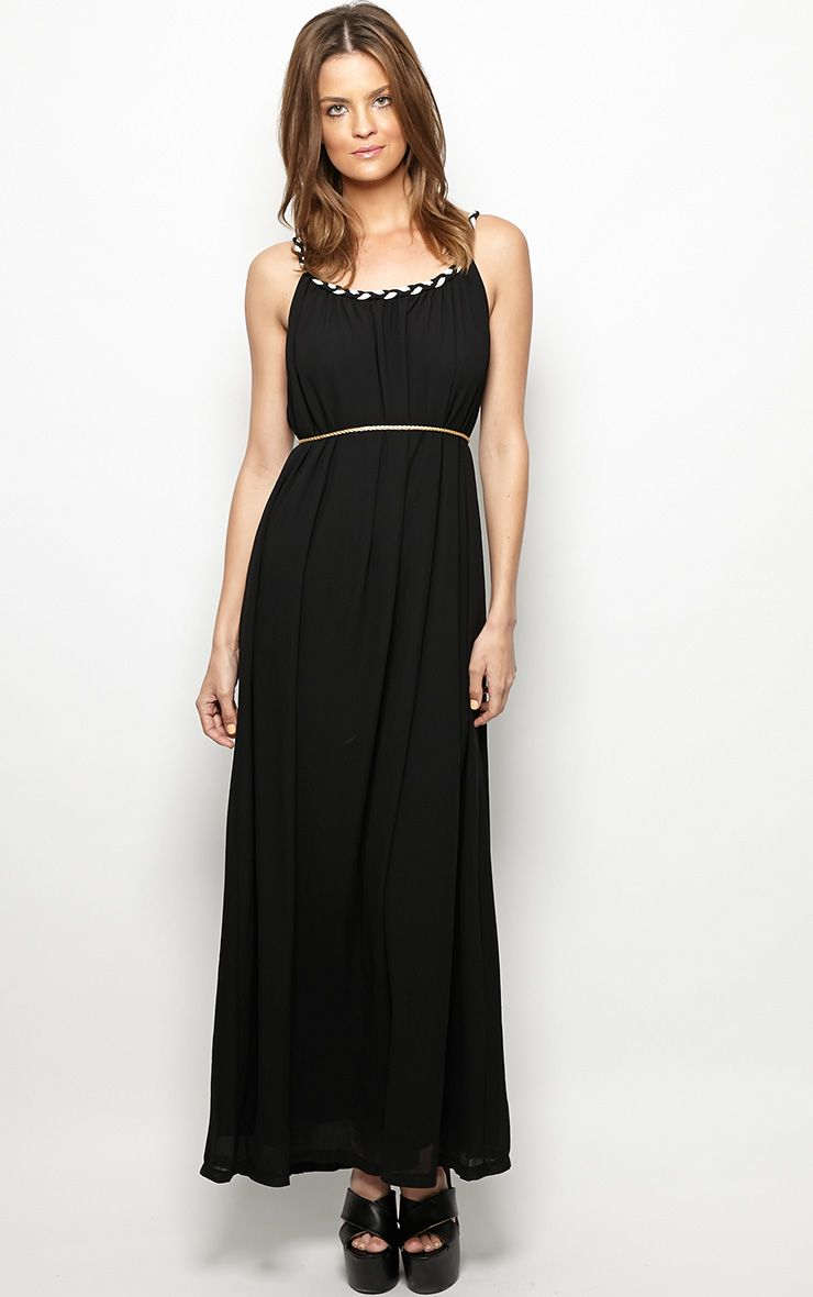 Julian Black Chiffon Maxi Dress 1