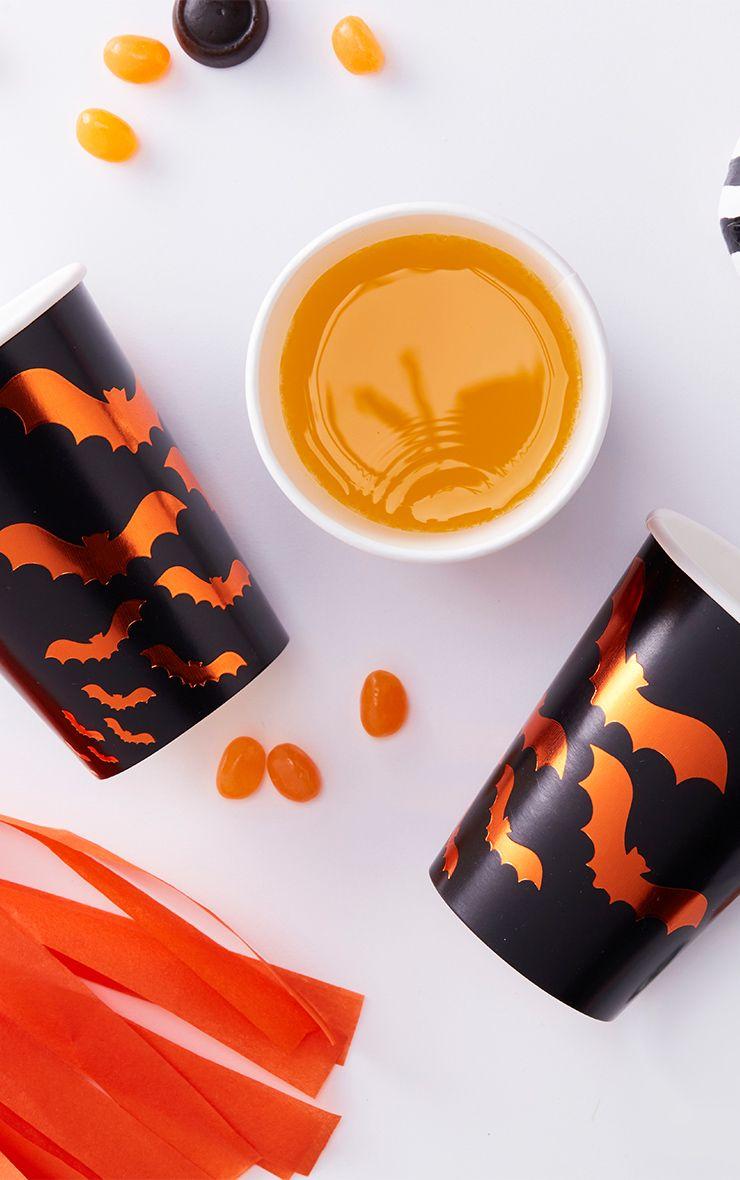 Halloween Bat Paper Cups