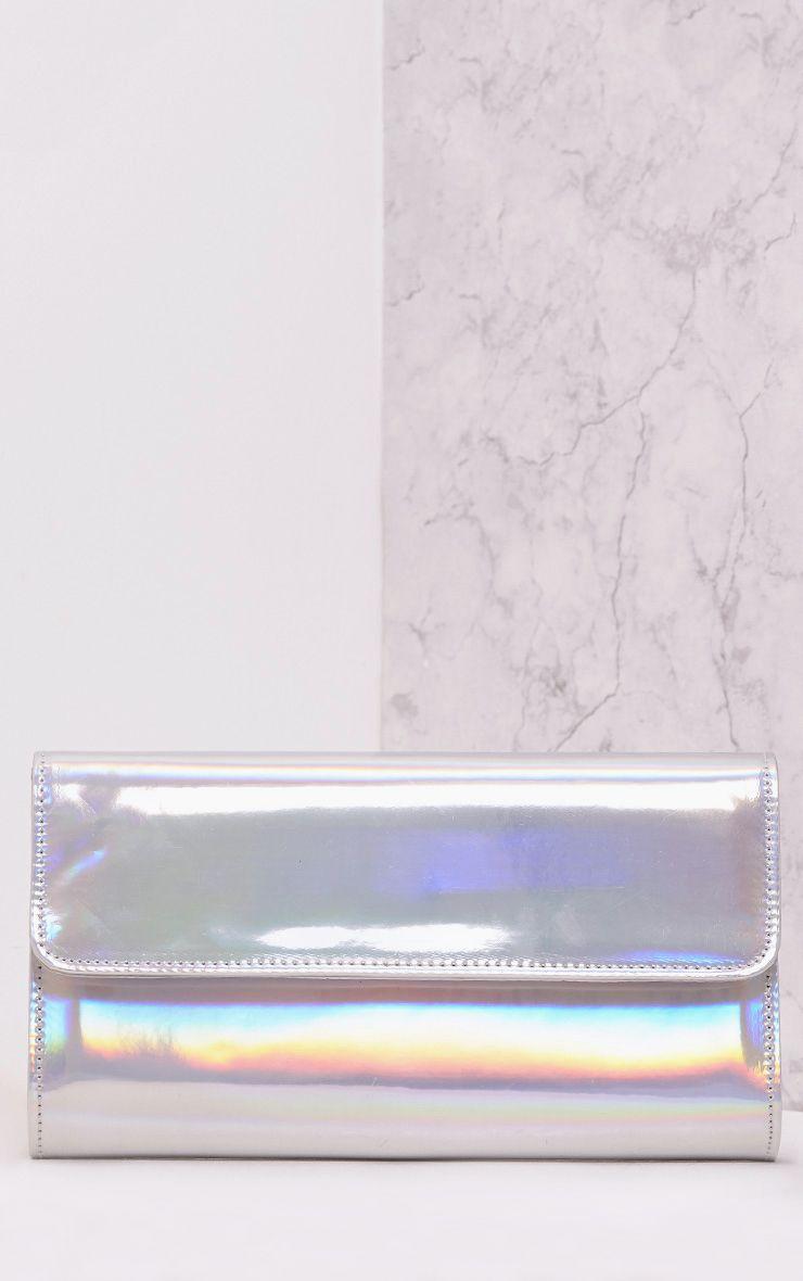 Molta Silver Mirrored Clutch