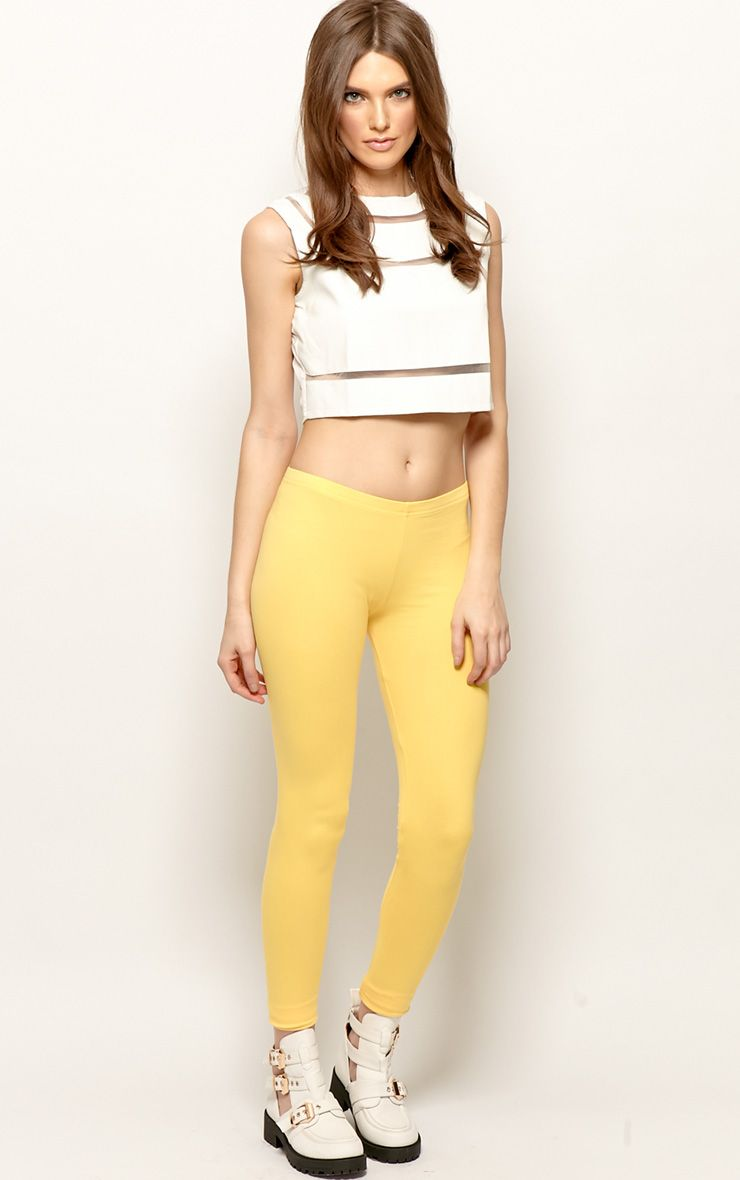 Harriet Yellow Basic leggings-S 1