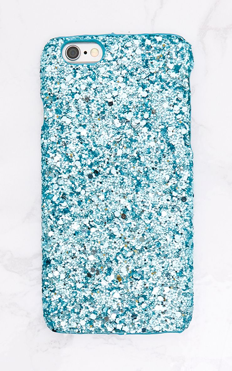 Blue Glitter Iphone 6 Case