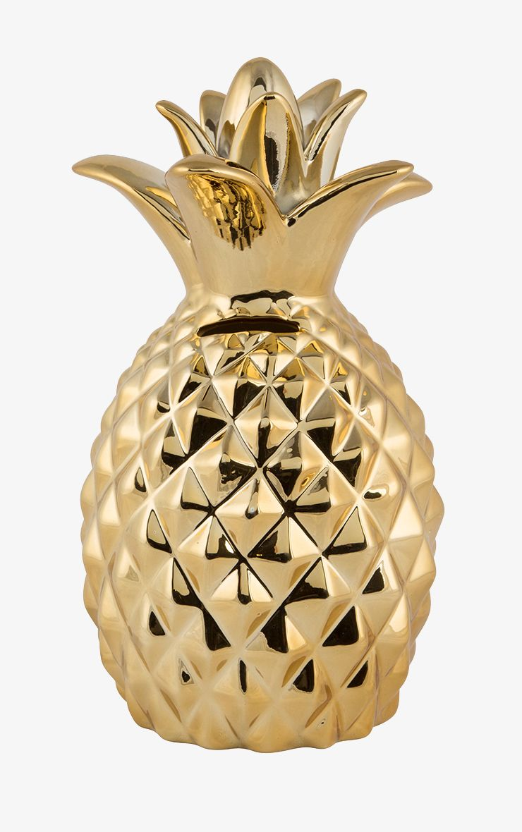 Sass & Belle Gold Pineapple Money Box