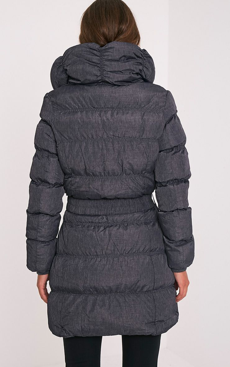 Shawn Grey Belted Puffer Coat 2