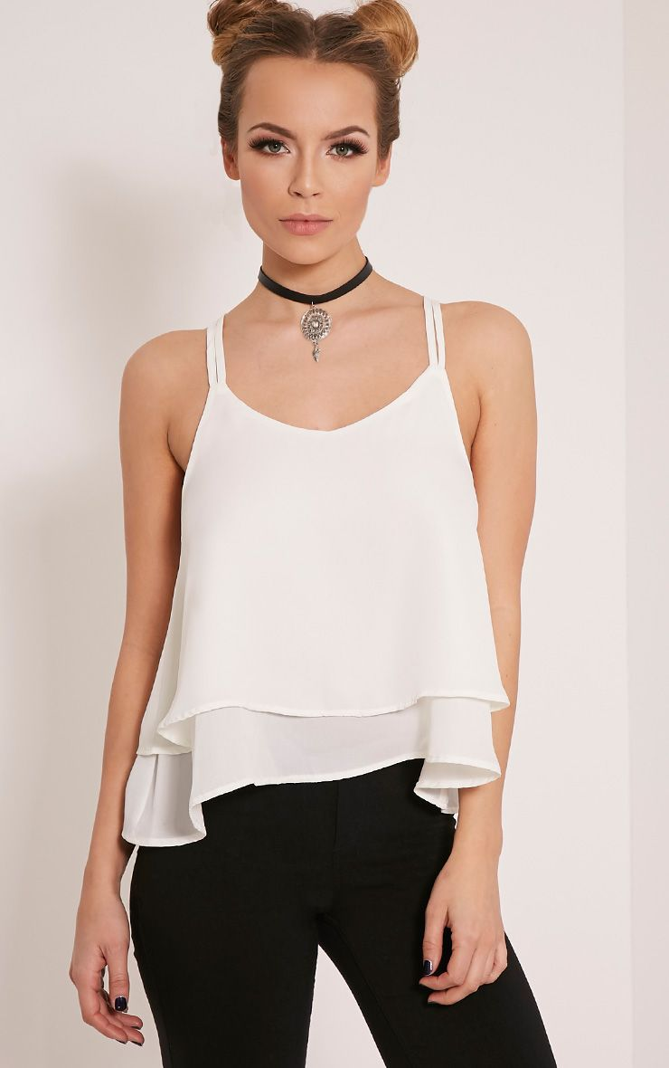 Molly Cream Chiffon Cami Top 1