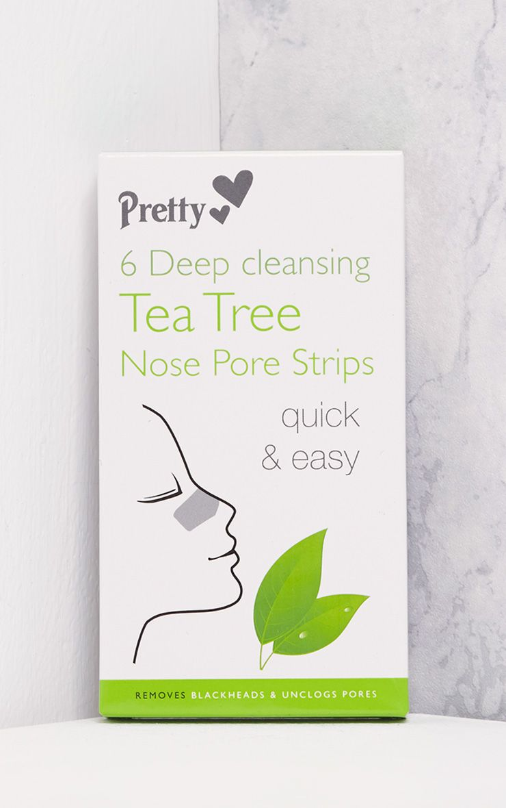Six Pack Deep Cleansing Tea Tree Nose Strips