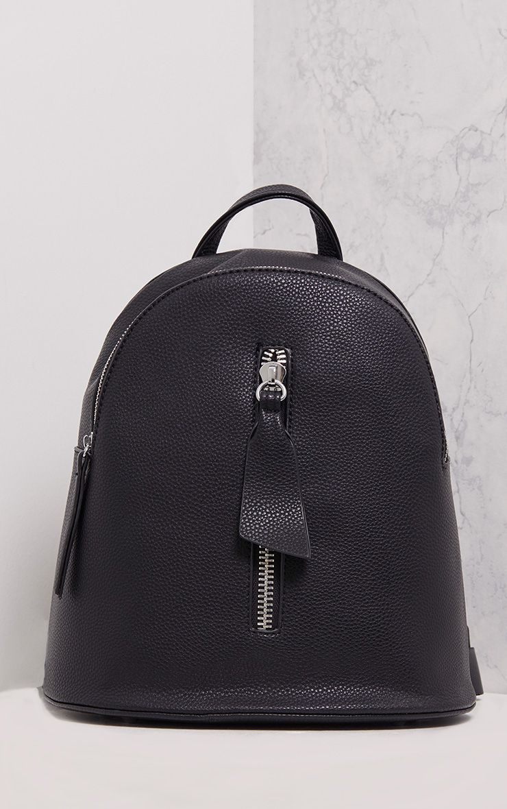 Becca Black Zip Front Backpack