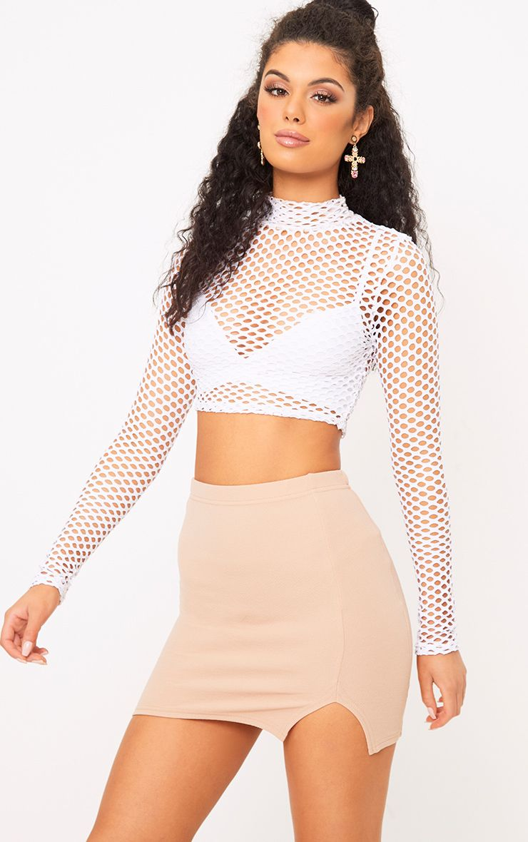 Stone Split Mini Skirt