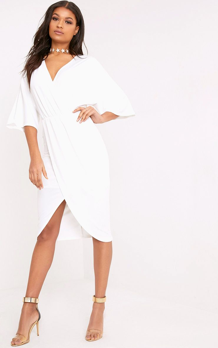 Archer Cream Cape Midi Dress