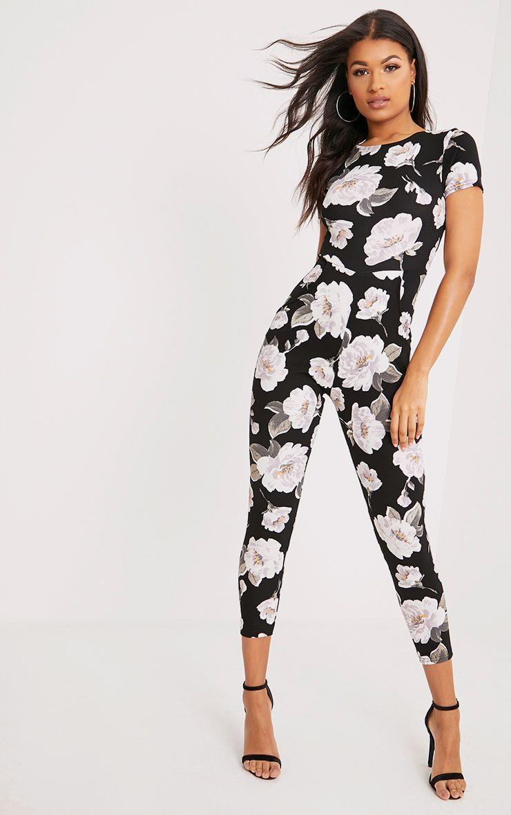 Rachel White Floral Printed Jumpsuit 1