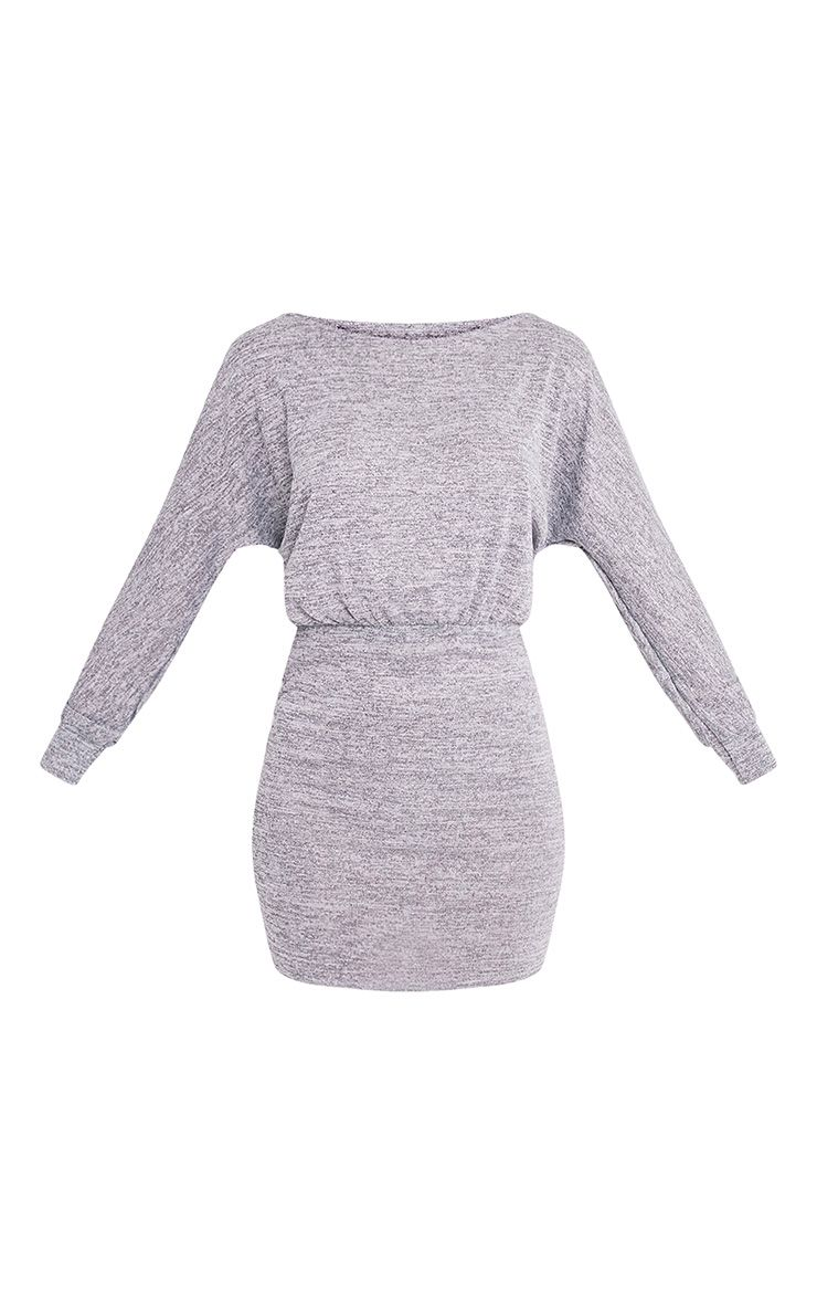 Lerie Grey Waist Fitted Knit Dress 3