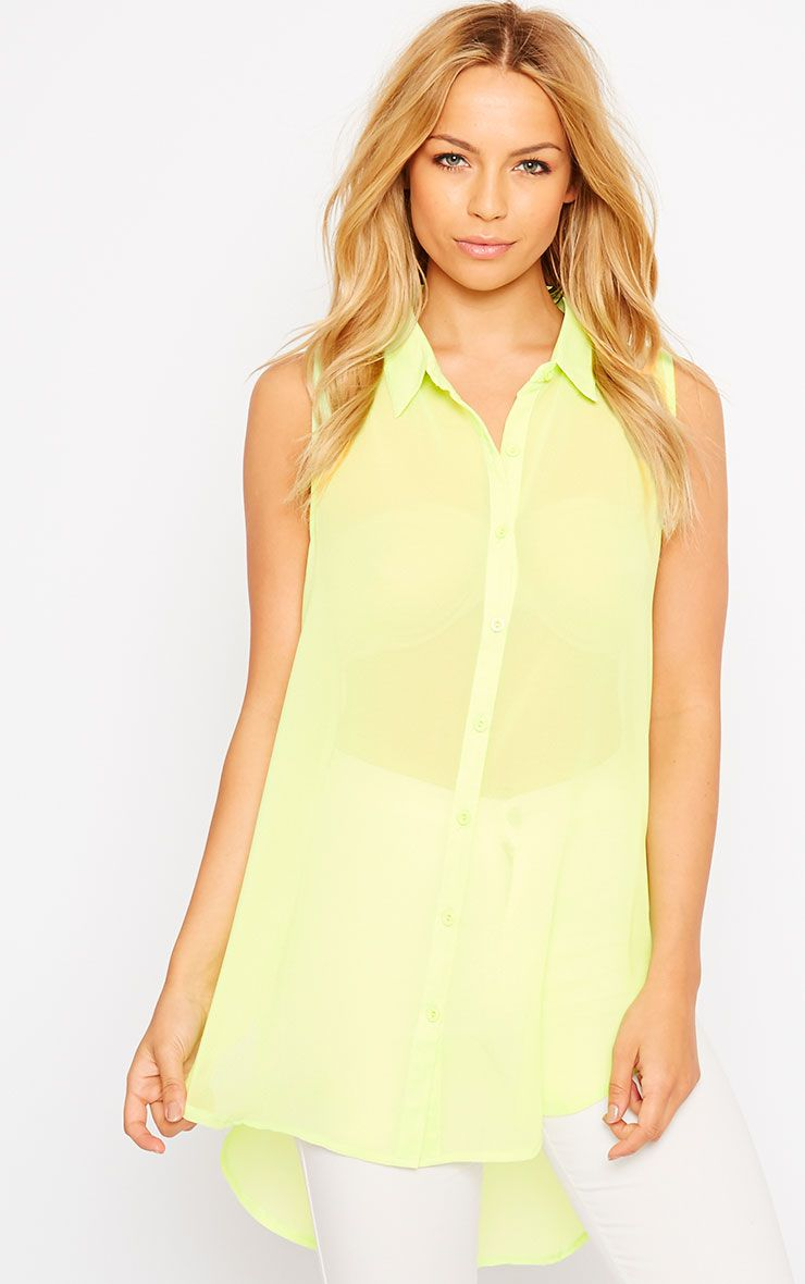 Kaley Lime Sheer Shirt 1