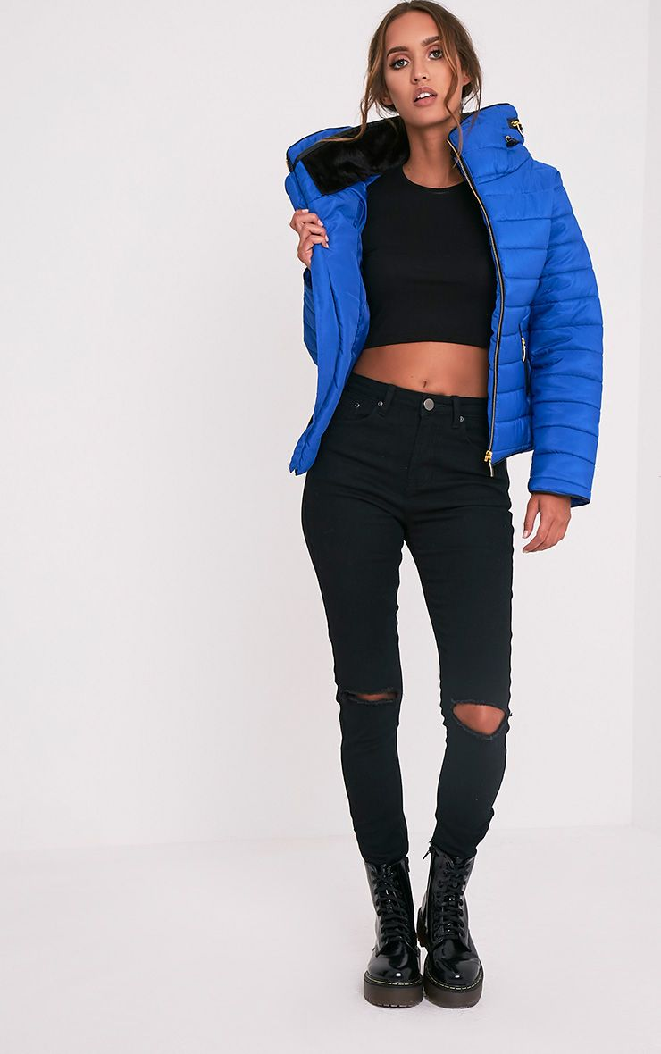 Mara Blue Padded Jacket