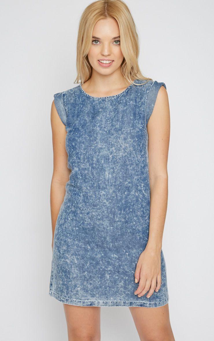 Carys Acid Wash Smock Dress 1