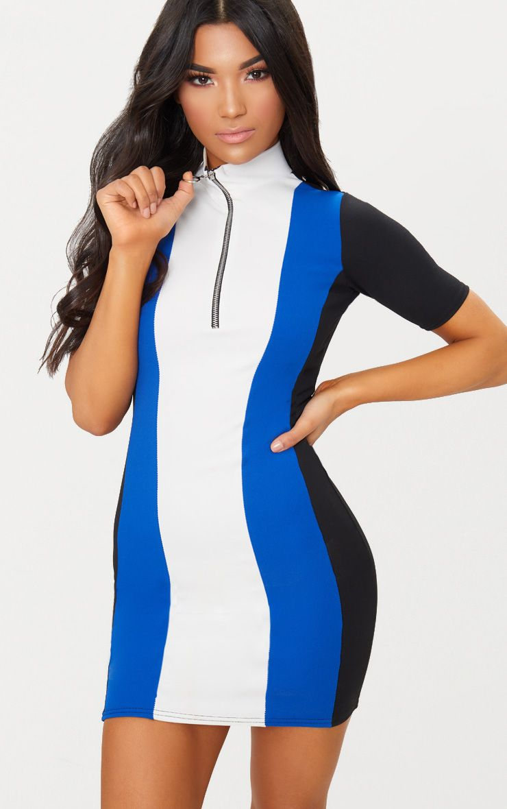 Cobalt Motocross Ring Pull Dress