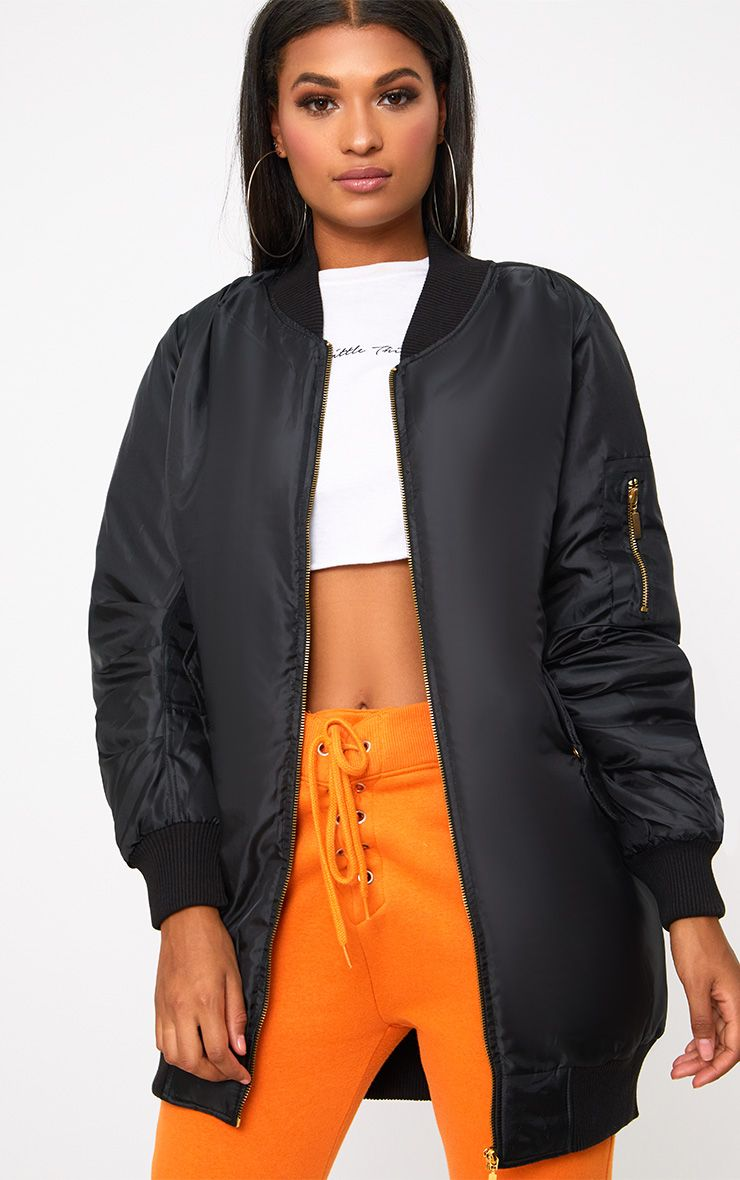 Shelbi bomber long noir