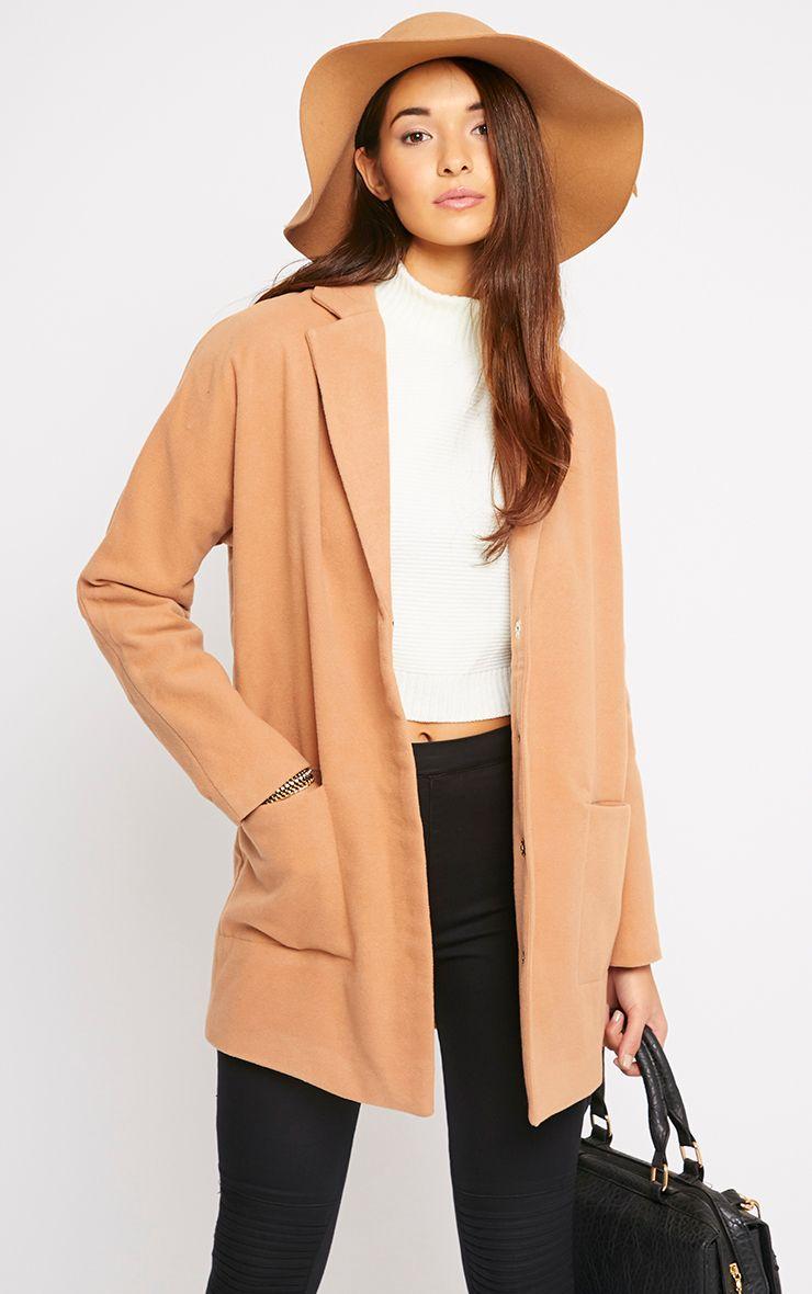 Hope Camel Boyfriend Coat  1