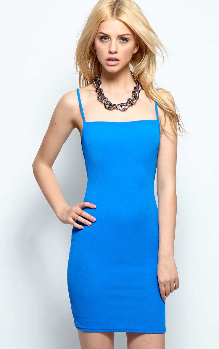 Kristin Premium Blue Strappy Dress 1