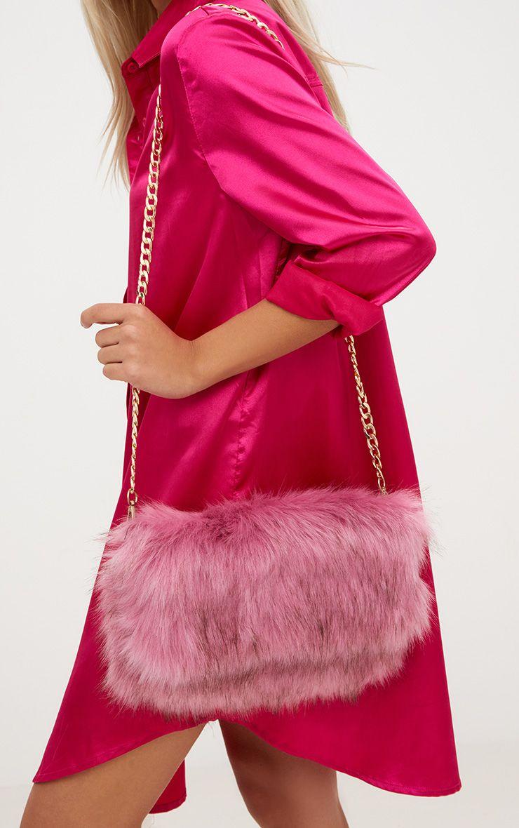 Kylah Rose Faux Fur Clutch Bag