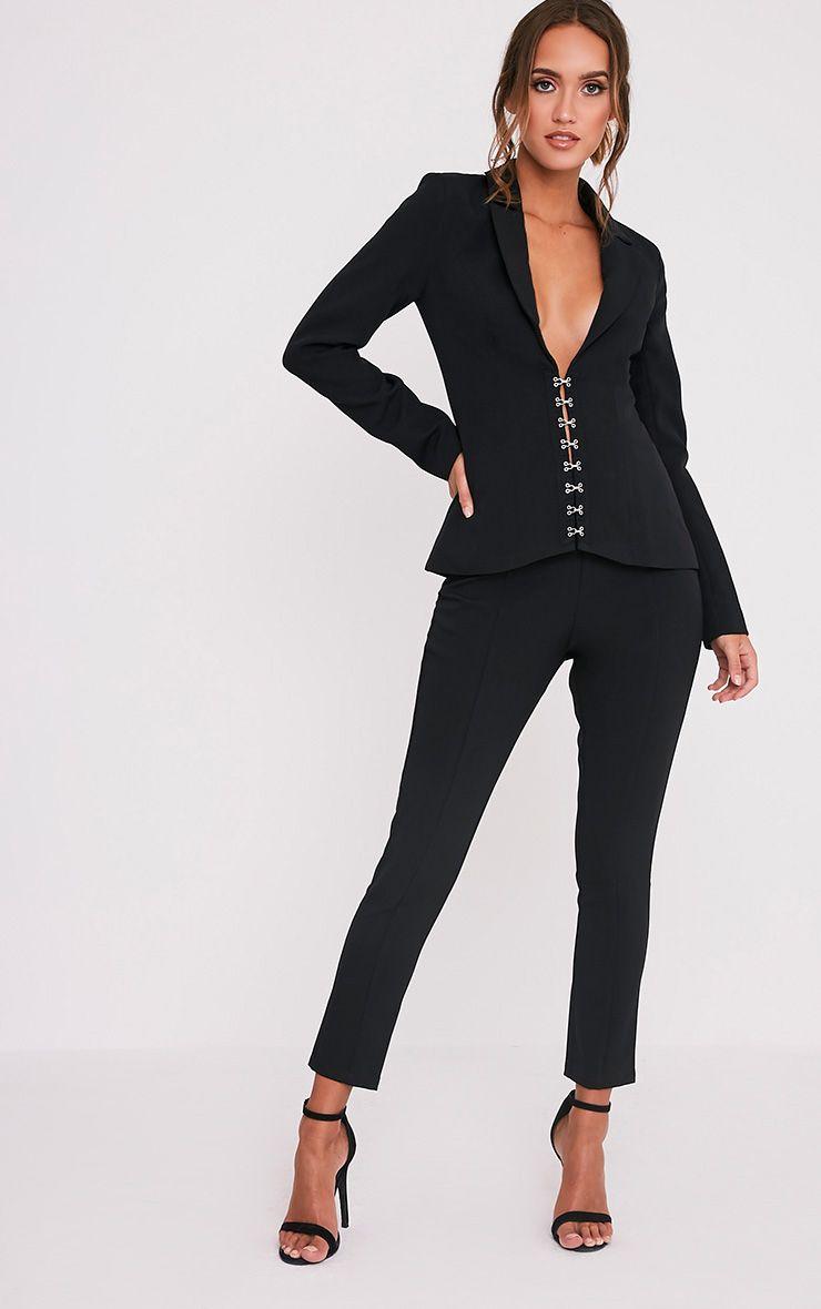Ryena Black Cigarette Suit Trousers
