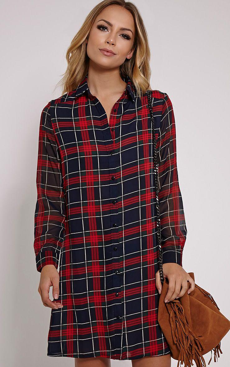 Lacey Tartan Shirt Dress 1