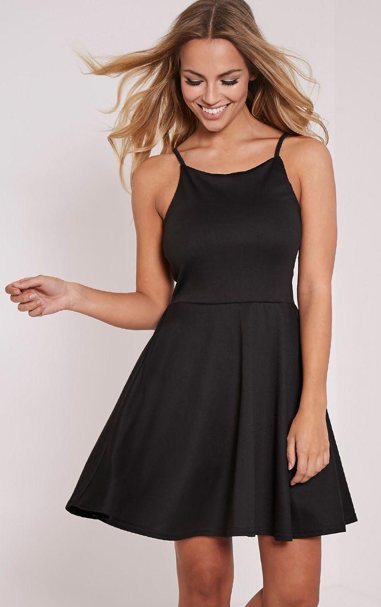 London Black Skater Dress 1