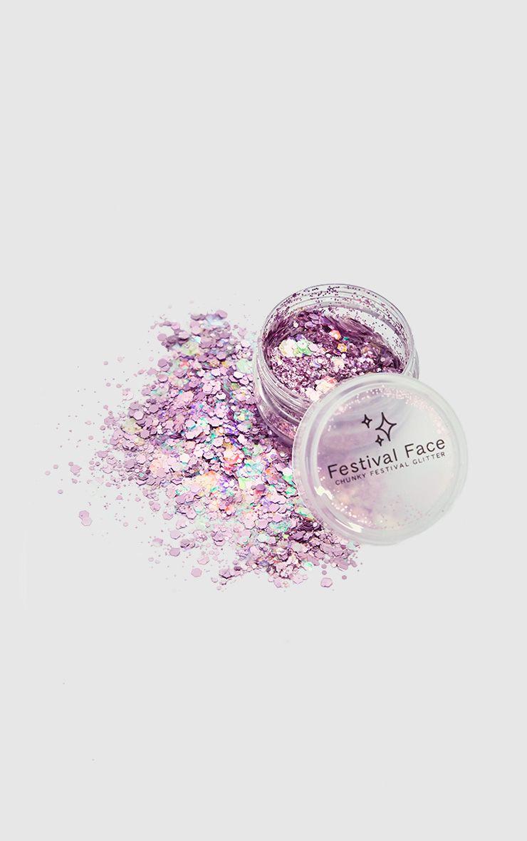 Festival Face Pink Champagne Glitter Pot