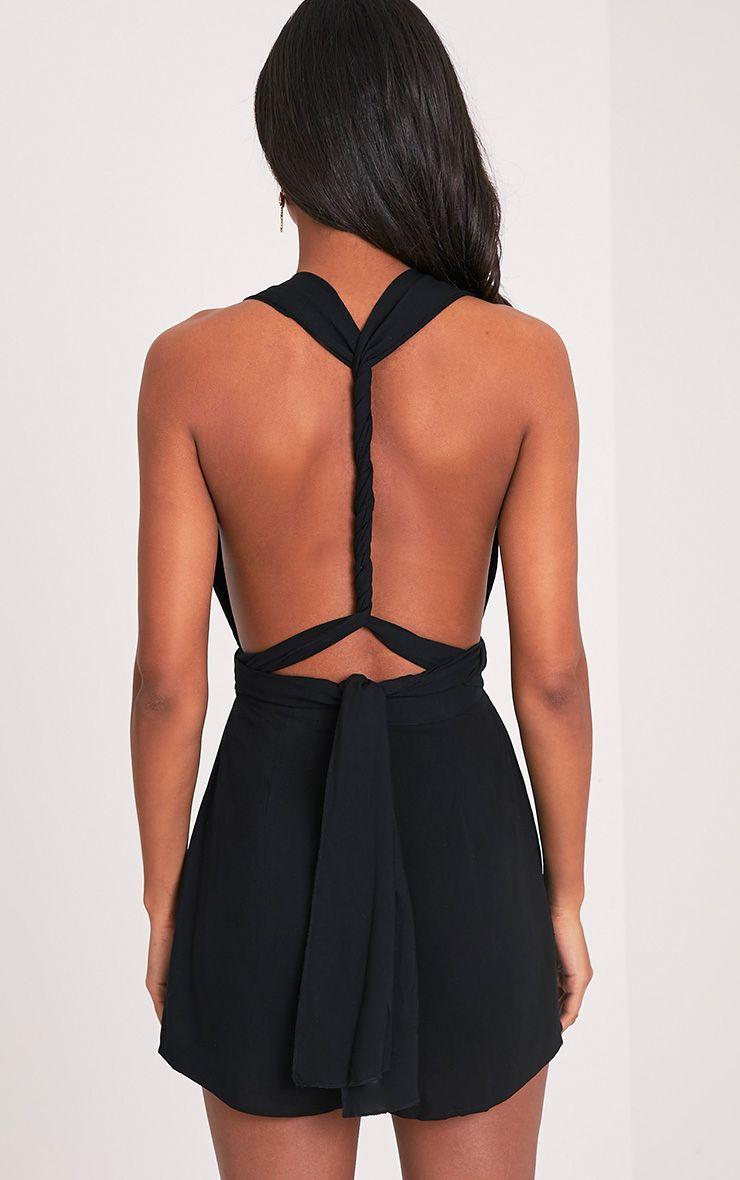 Ailee Black Tie Back Playsuit 2