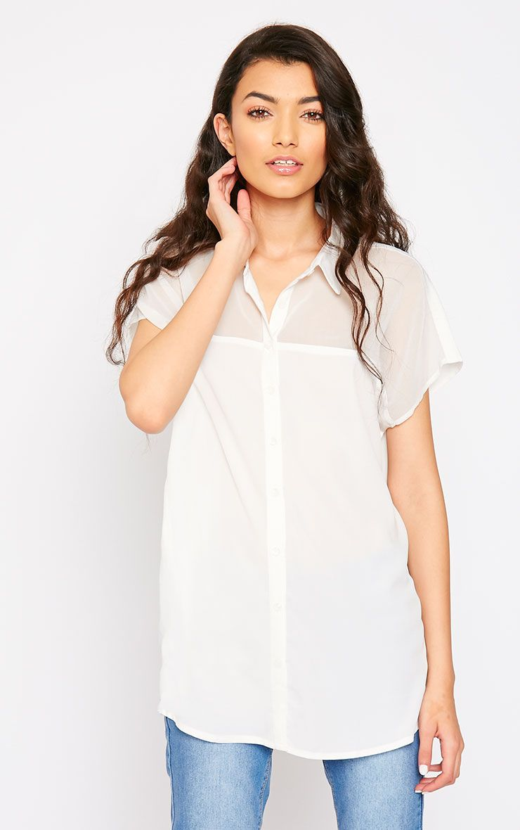 Lilith Cream Short Sleeve Shirt 1